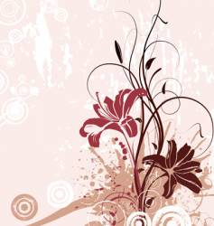 floral abstract with lily vector image