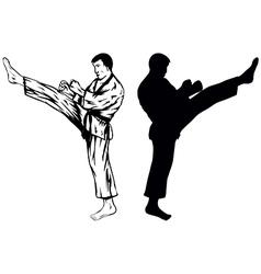 karateVer1 vector image