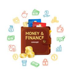 money finance concept vector image vector image