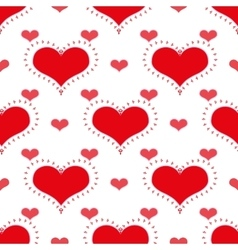 Red heart seamless pattern vector image vector image