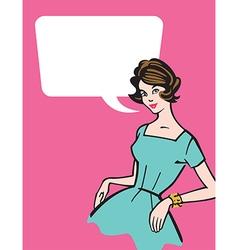 Retro 1950s Housewife vector image vector image