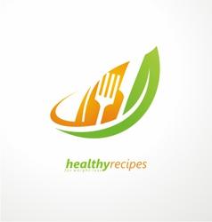 Vegetarian food symbol vector image vector image