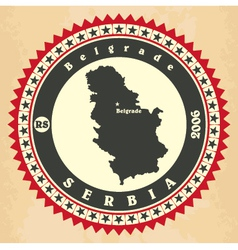 Vintage label-sticker cards of Serbia vector image