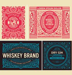 vintage set of labels vector image vector image