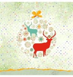 Christmas deer card EPS 8 vector image vector image