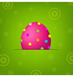 Easter Banner With Egg vector image vector image