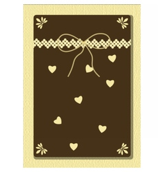 Handmade Greeting card with hearts and ornaments vector image vector image