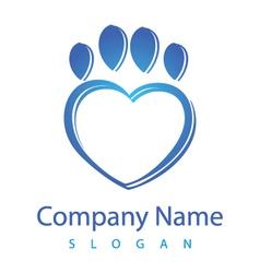 heart vet logo vector image vector image