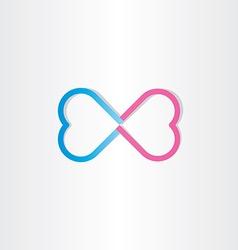infinite love infinity heart sign vector image vector image