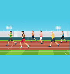 men is sprint race vector image