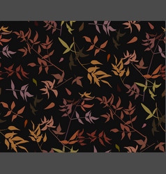 seamless pattern leaf different branches natural vector image vector image