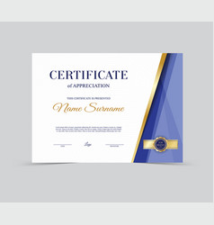 template certificate of appreciation vector image