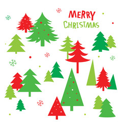 tree christmas icon vector image vector image