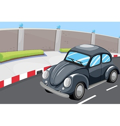 A vehicle at the road vector