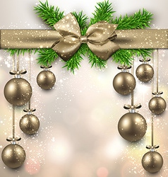 Abstract background with christmas balls vector image