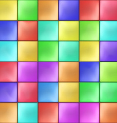Abstract Colorful Squares Mosaic Pattern vector image vector image