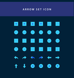 arrows icons set flat style design vector image