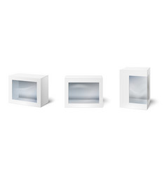 box with window showcase packaging boxes windows vector image