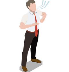 Breathing exercise isometric composition vector