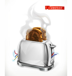 broken toaster error 3d icon vector image