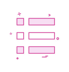 bullet list menu options icon design vector image