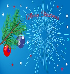 Christmas card with the greeting text vector image