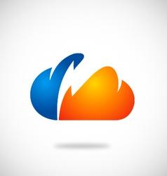 cloud bolt thunder icon logo vector image