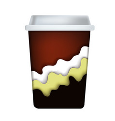 Coffee cup with depth shadow vector