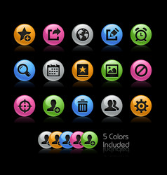 Communication interface icons - gelcolor series vector