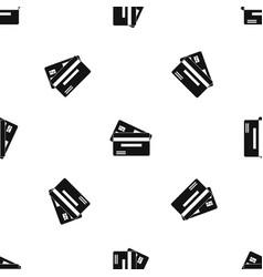 credit card pattern seamless black vector image