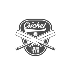 Cricket team emblem and design elements logo vector image