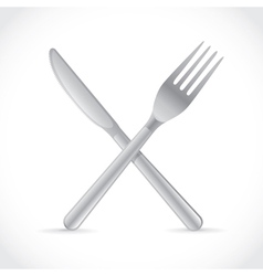 Cutlery crossing vector image