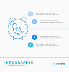Delivery time baby birth child infographics vector