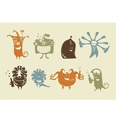 Drunk Happy Monsters vector image