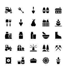ecology glyph icons vector image
