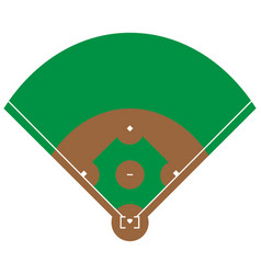 flat green baseball grass field baseball base wit vector image
