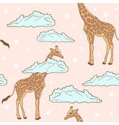 giraffe pink vector image