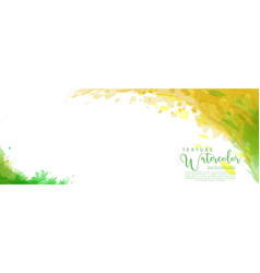 green and yellow surface splash watercolor vector image
