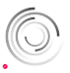 halftone dots graphic elements abstract vector image