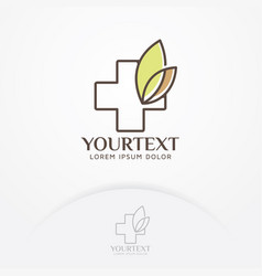 herbal health logo vector image