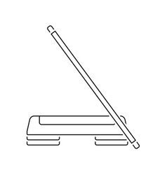Icon of step board and stick vector