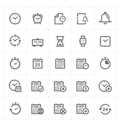 icon set - time and schedule vector image
