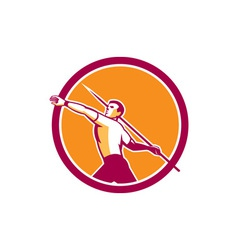 Javelin Throw Track and Field Athlete Circle vector image