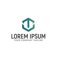 letter t logo technology modern design concept vector image