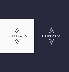 Minimalistic and stylish logo compass modern vector