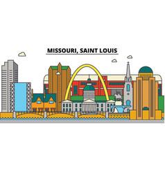 Missouri saint louis city skyline architecture vector