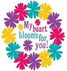 My Heart Blooms vector