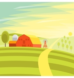 Natural Landscape Farm vector