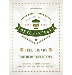 Oktoberfest beer festival typographic poster vector image vector image