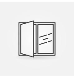 Open window line icon vector